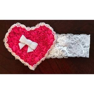 Other - Heart Lace headband